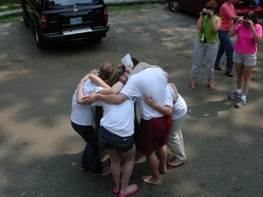 parking-lot-huddle